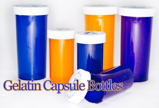 Colored Capsule Bottles