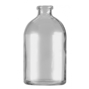 RLS 100ml Molded Clear Glass Serum Vials by Med Lab Supply