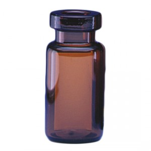 RLS 10ml Tubular Amber Glass Serum Vials by Med Lab Supply