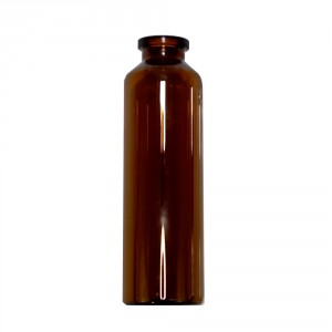 RLS 50mL Tubular Amber Glass Serum Vials by Med Lab Supply