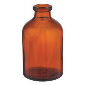 RLS 50ml Molded Amber Glass Serum Vials by Med Lab Supply