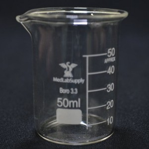 50ml Low Form Graduated Glass Beakers by Med Lab Supply