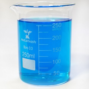 250ml Low Form Graduated Glass Beakers by Med Lab Supply