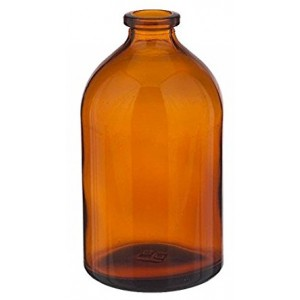 RLS 100mL Molded Amber Glass Serum Vials by Med Lab Supply