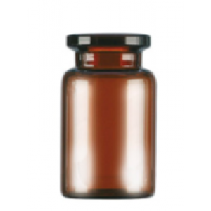 RLS 10mL Short Tubular Amber Glass Serum Vials by Med Lab Supply