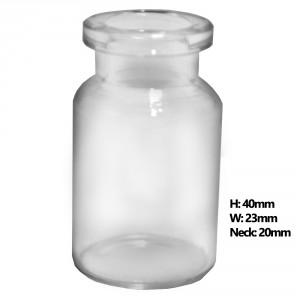 RLS 10ml Short Tubular Clear Glass Serum Vials by Med Lab Supply