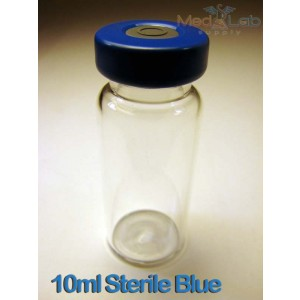 10ml Clear Sealed Sterile Depyrogenated Glass Vials (Blue)