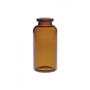 RLS 20ml Tubular Amber Glass Serum Vials by Med Lab Supply