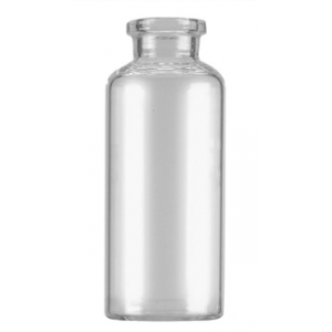 RLS 60mL Tubular Clear Glass Serum Vials by Med Lab Supply