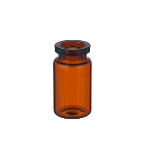 RLS 5mL Tubular Amber Glass Serum Vials by Med Lab Supply