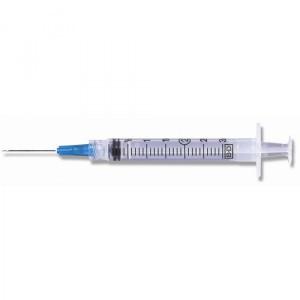 "BD Luer-Lok Syringe, PresicionGlide Needle, 3mL 23g x 1.5"", 100/BX"