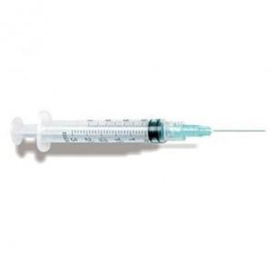 """Exel Luer Lock Syringe & Needle, 3cc, 18g x 1.5"""", 100/BX"""
